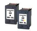 [HP 301XL BK + 301XL Color Combo set kompatibil]