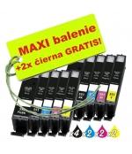 [Canon CLI-551 / PGI-550 8ks Maxi sada + 2 GRATIS]