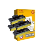 [Toner Brother TN-2120 kompatibil 4x + papier ]