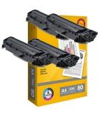 [Toner Canon CRG-703 kompatibil 4x + papier ]