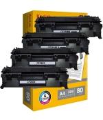 [Toner HP CF280X kompatibil 4x + papier ]