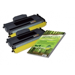 Toner Brother TN-2120 kompatibil 2x + papier