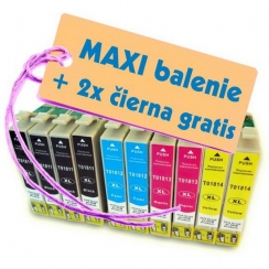 Epson T181 18XL 8ks Maxi sada + 2 GRATIS