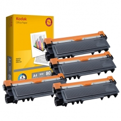 Toner Brother TN-2320 kompatibil 4x + papier