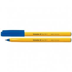 Jednorázové guličkové pero Schneider modré s uzáverom