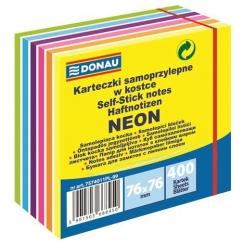 Samolepiaci bloček DONAU 76x76mm, 400 listov, neón