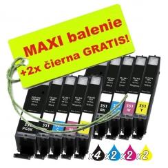 Canon CLI-551 / PGI-550 8ks Maxi sada + 2 GRATIS