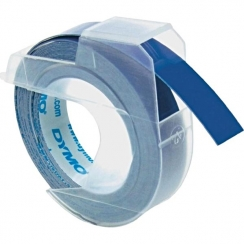 Páska Dymo 9mm, 3D reliefná modrá