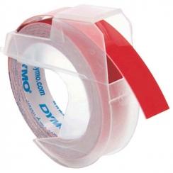 Páska Dymo 9mm, 3D reliefná červená