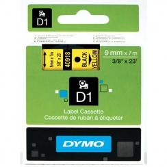 Páska Dymo 9mm 40918, D1 čierna na žltú