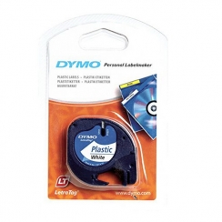 Páska Dymo 12mm 59422, LetraTag biela plastová