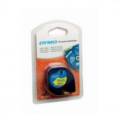 Páska Dymo 12mm 59423, LetraTag žltá plastová