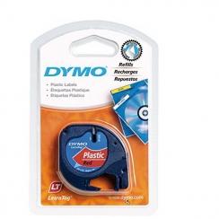 Páska Dymo 12mm 59424, LetraTag červená plastová