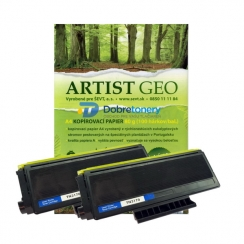 Toner Brother TN-3170 kompatibil 2x + papier