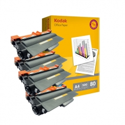 Toner Brother TN-3380 kompatibil 4x + papier