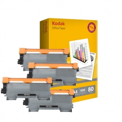 Toner Brother TN-2220 kompatibil 4x + papier
