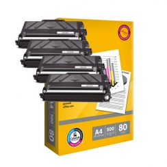 Toner Brother TN-3480 kompatibil 4x + papier