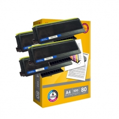 Toner Brother TN-3170 kompatibil 4x + papier